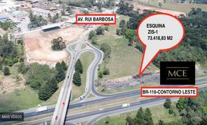 Área esquina Contorno Leste com Av. Rui Barbosa