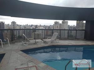 Flat com 1 dormitório para alugar, 26 m² por R$ 3.500/mês - Moema - São Paulo/SP
