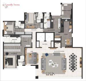 Apartamento com 4 suites à venda, 280 m² - Indianópolis - São Paulo/SP