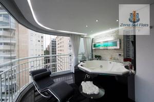Apartamento Alto Padrão Luxuoso Para Locação Nos Jardins I 1 Suíte Master I Varanda Com Hidro I Escritório I 95m²