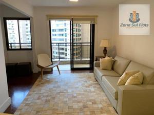 Flat Alto Padrão Para Venda/Locação em Moema I 3 Dormitórios Sendo 1 Suíte I Lavabo I 2 vagas I 124m²