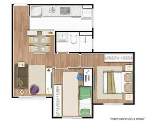 2 dormitórios novo pronto para morar