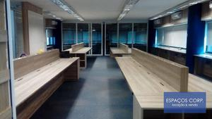 Conjunto comercial para alugar, 184m² - Brooklin - São Paulo/SP